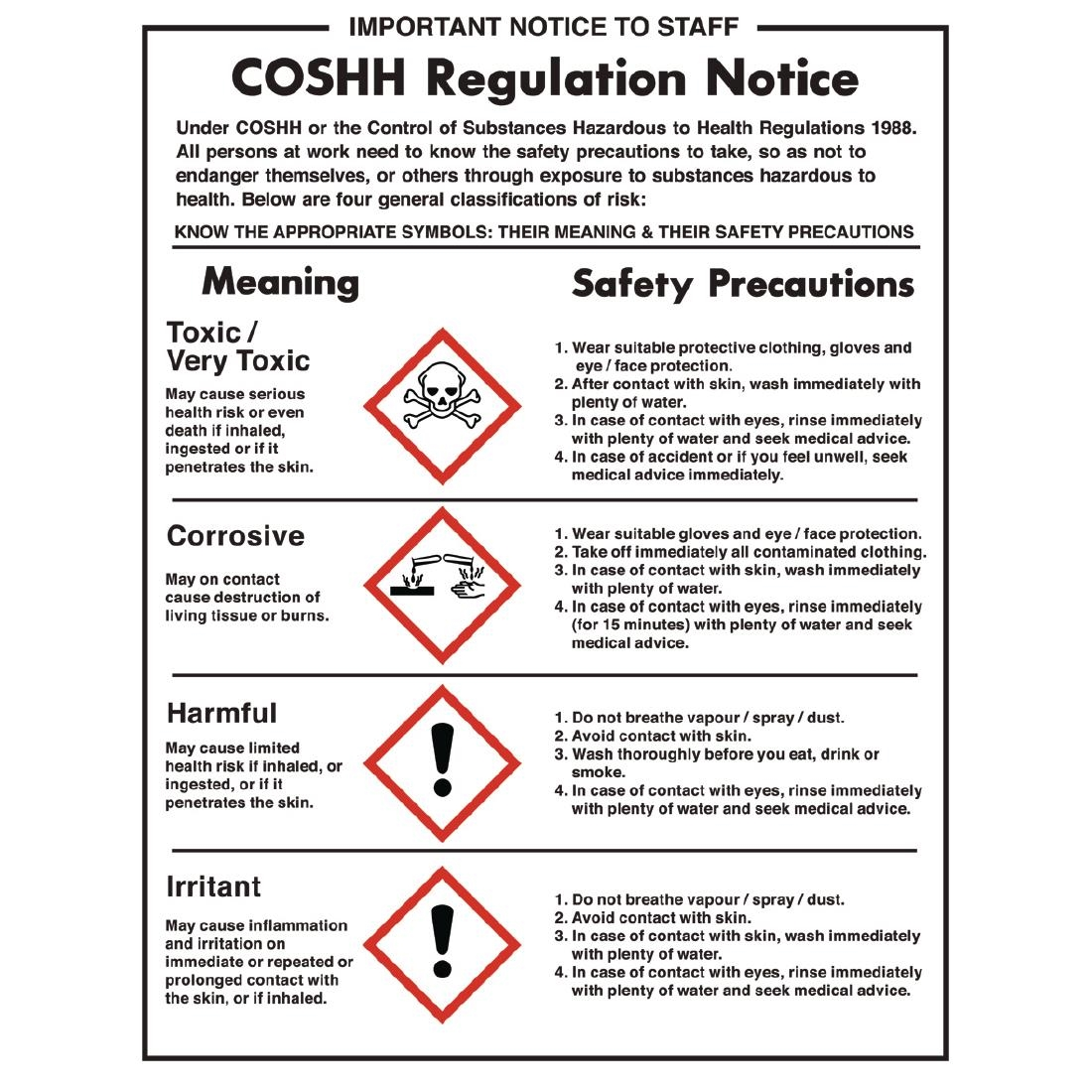Medical symbols and meaning images symbol and sign ideas coshh regulations sign w396 buy online at nisbets cossh regulations sign cossh regulations sign buycottarizona buycottarizona