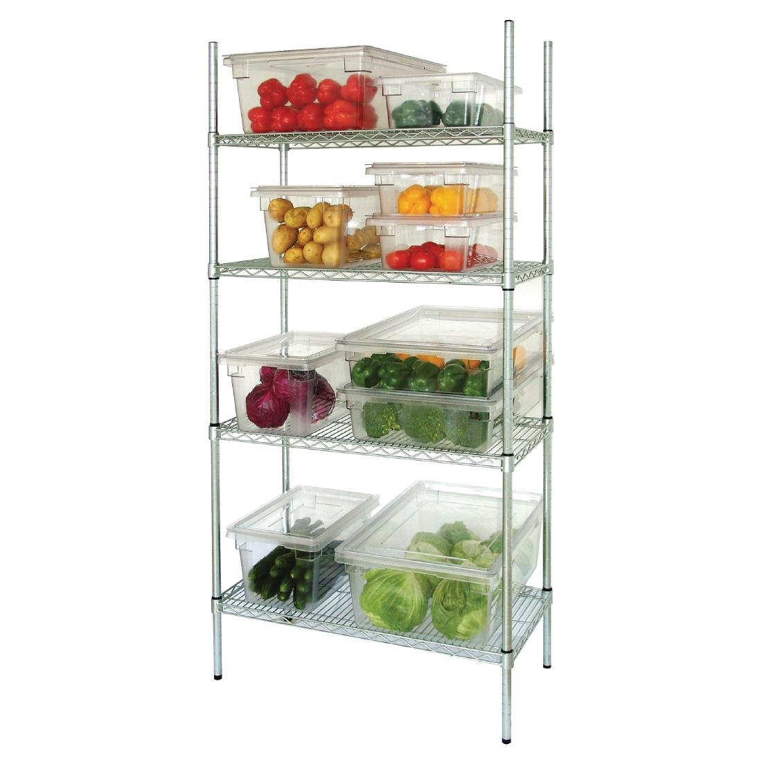 Picture of: Vogue 4 Tier Wire Shelving Kit 915 X 460mm Commercial Kitchen Storage Shelves 5050984064111 Ebay