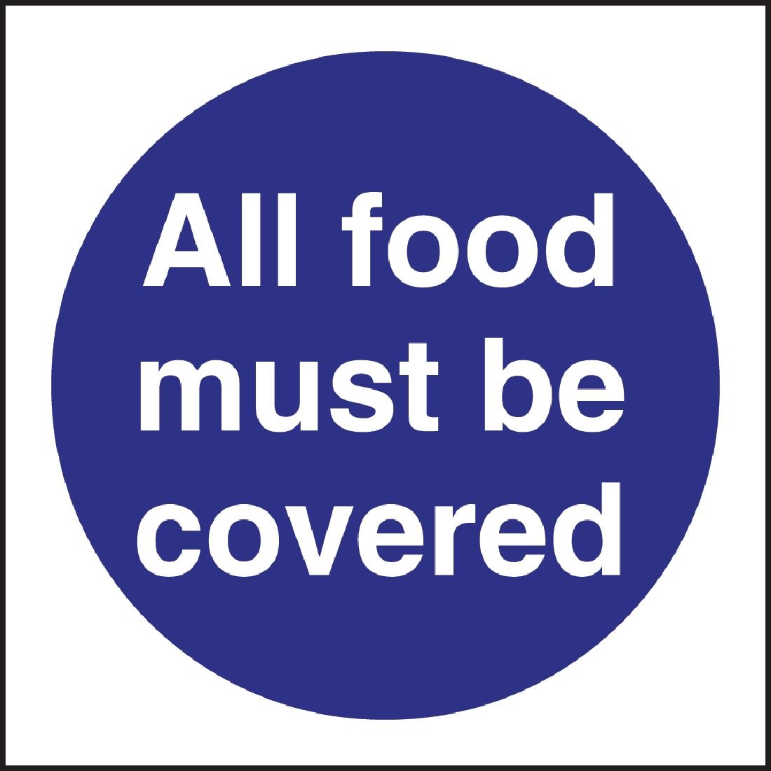 Kitchen signs buy food hygiene hse signs online uk nisbets all food must be covered sign buycottarizona Choice Image