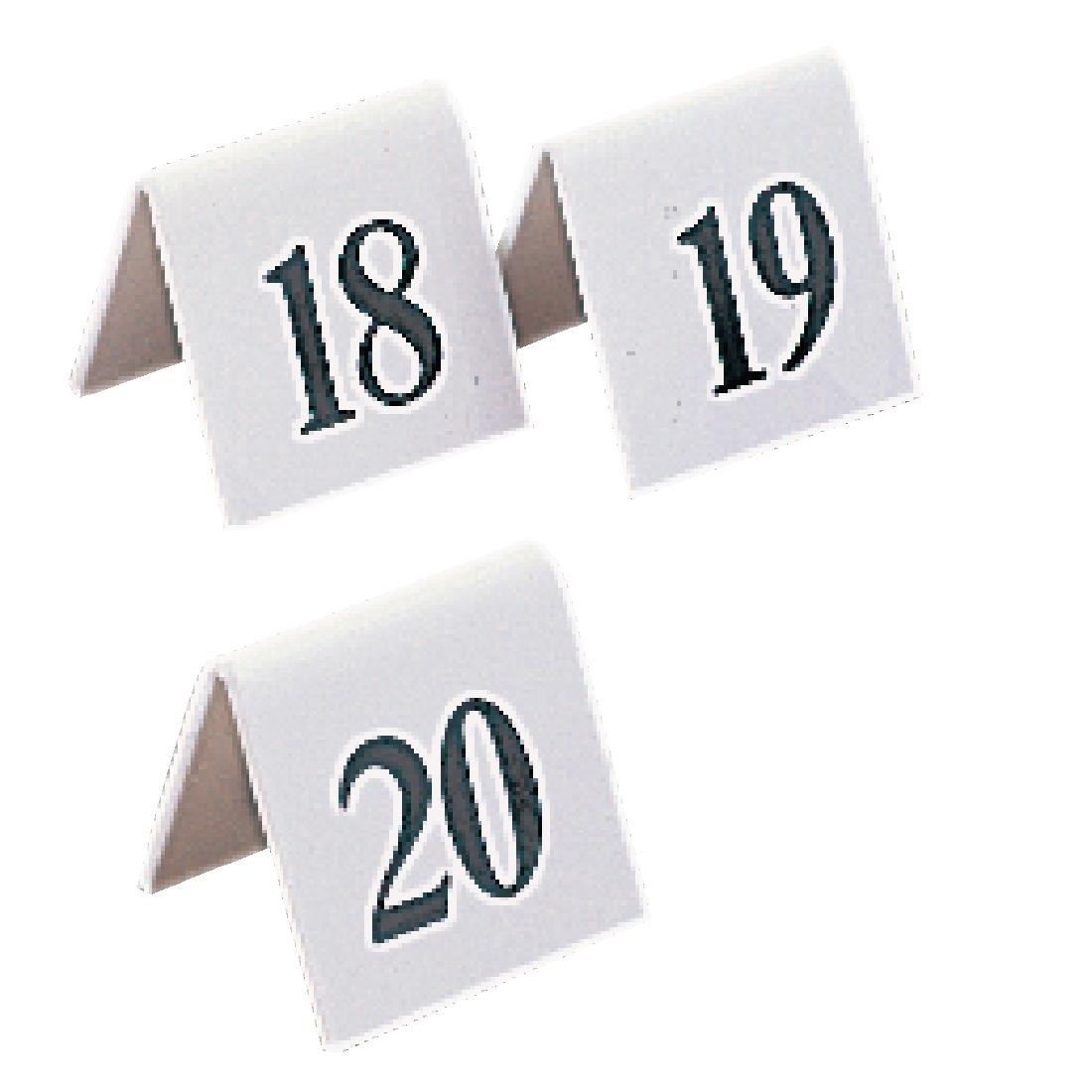 White Plastic 1-10 Table Numbers Set Restaurant Pub Bar Canteen Catering