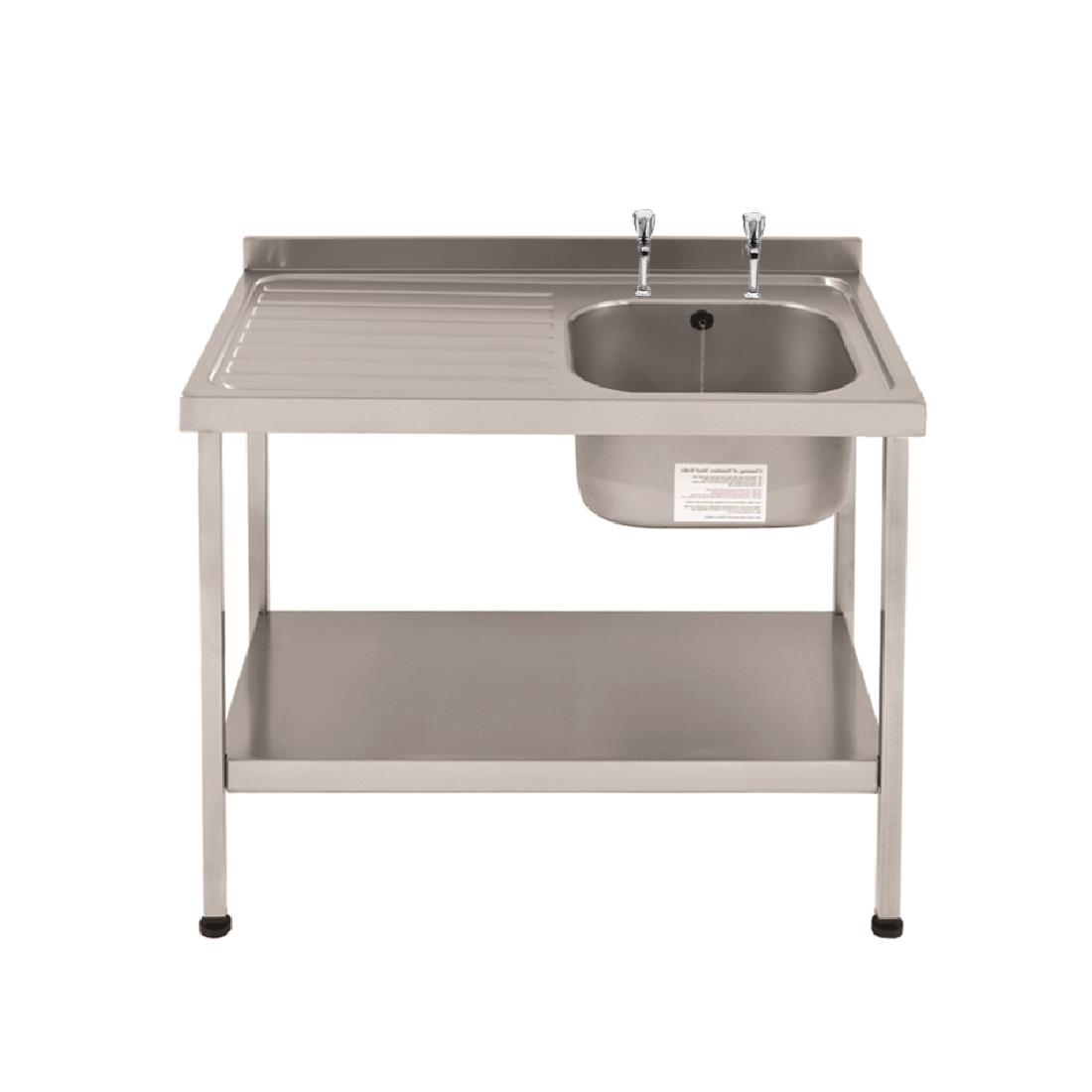 Image of Franke Sissons Self Assembly Stainless Steel Sink Left Hand Drainer 1000x600mm