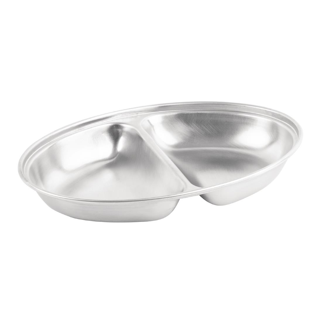 """Hotel Catering Banqueting Stainless Steel  20/"""" 2 Division Vegetable Dish"""