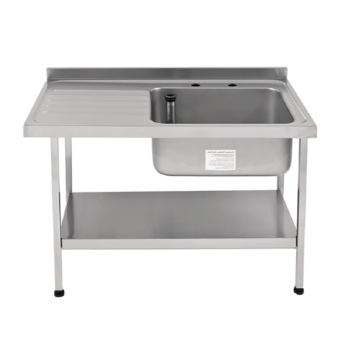 Image of Franke Sissons Self Assembly Stainless Steel Sink Left Hand Drainer 1200x650mm