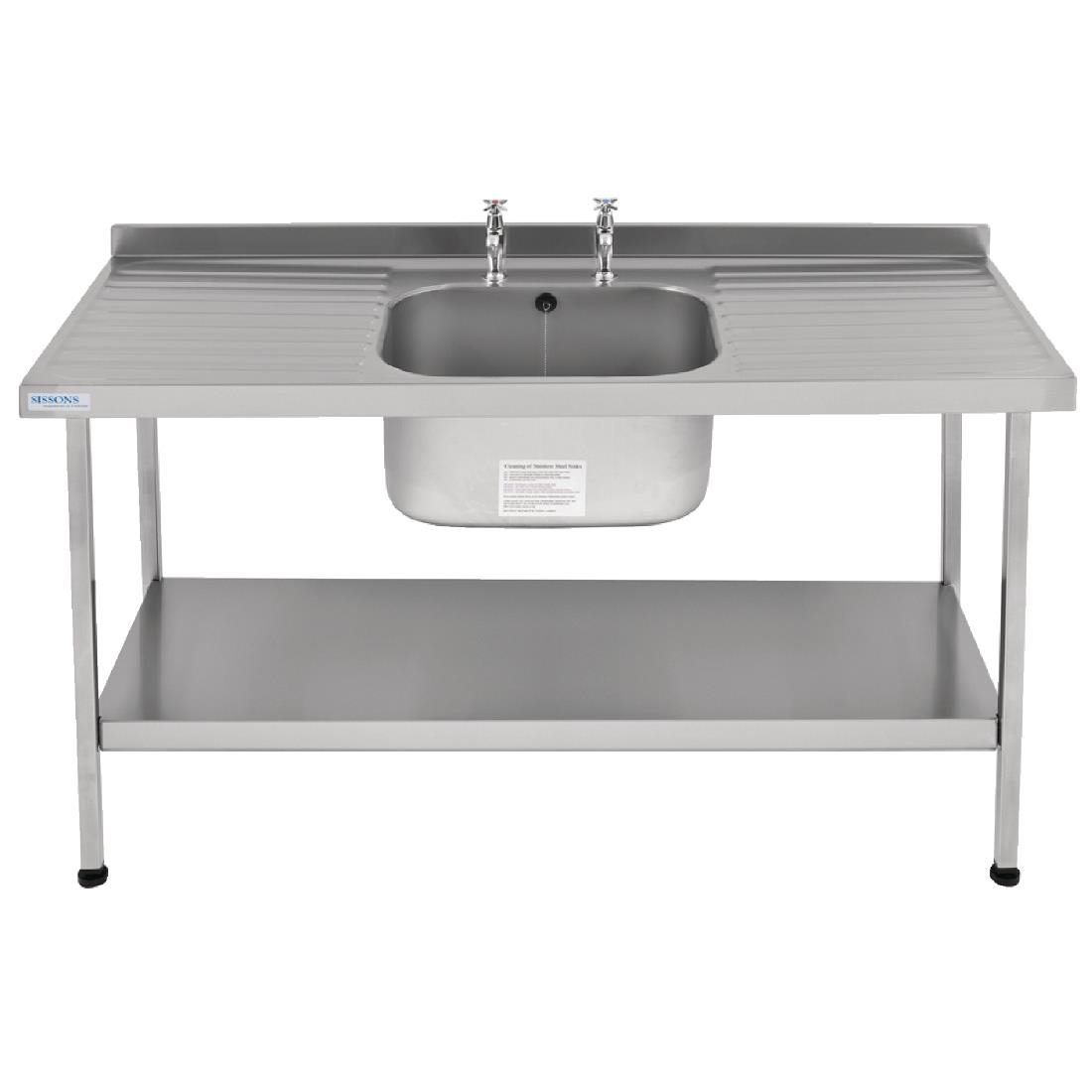 Image of Franke Sissons Self Assembly Stainless Steel Sink Double Drainer 1800x650mm