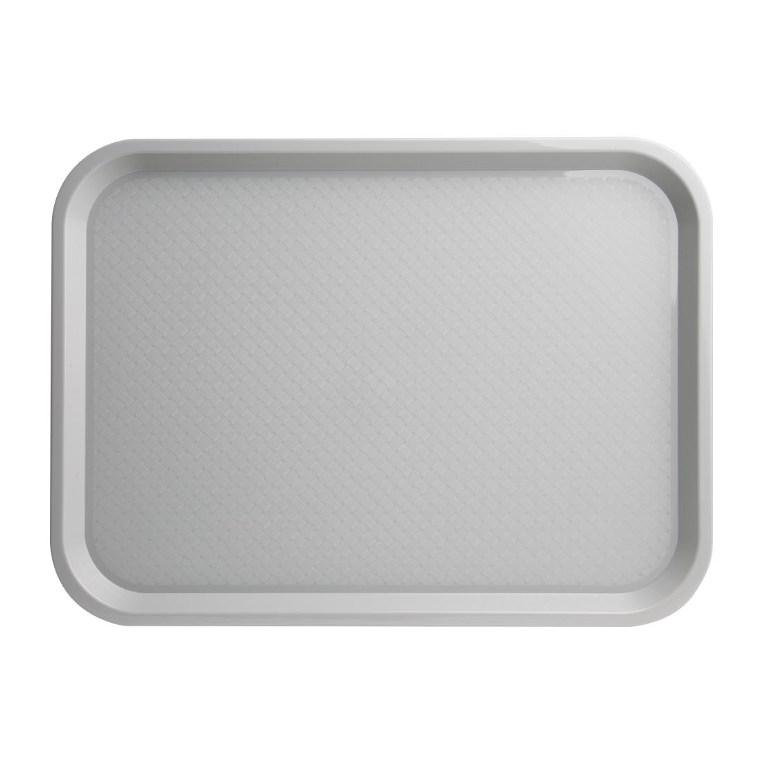 Kristallon Plastic Fast Food Tray Grey Large Next working day UK Delivery
