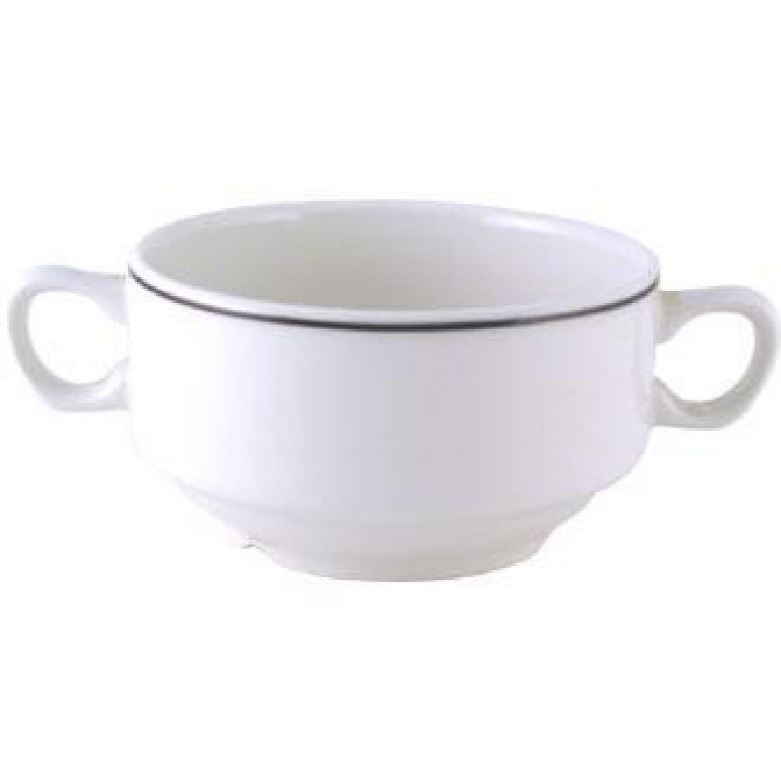 Click to view product details and reviews for Churchill Black Line Soup Bowls 398ml Pack Of 24 Pack Of 24.