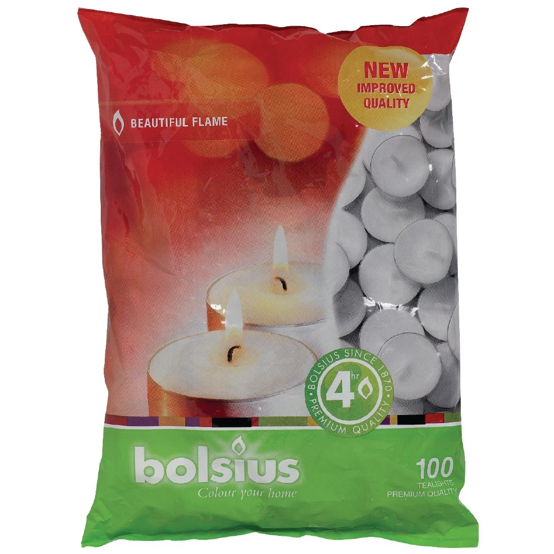 Image of Bolsius 4 Hour Tealights Pack of 100