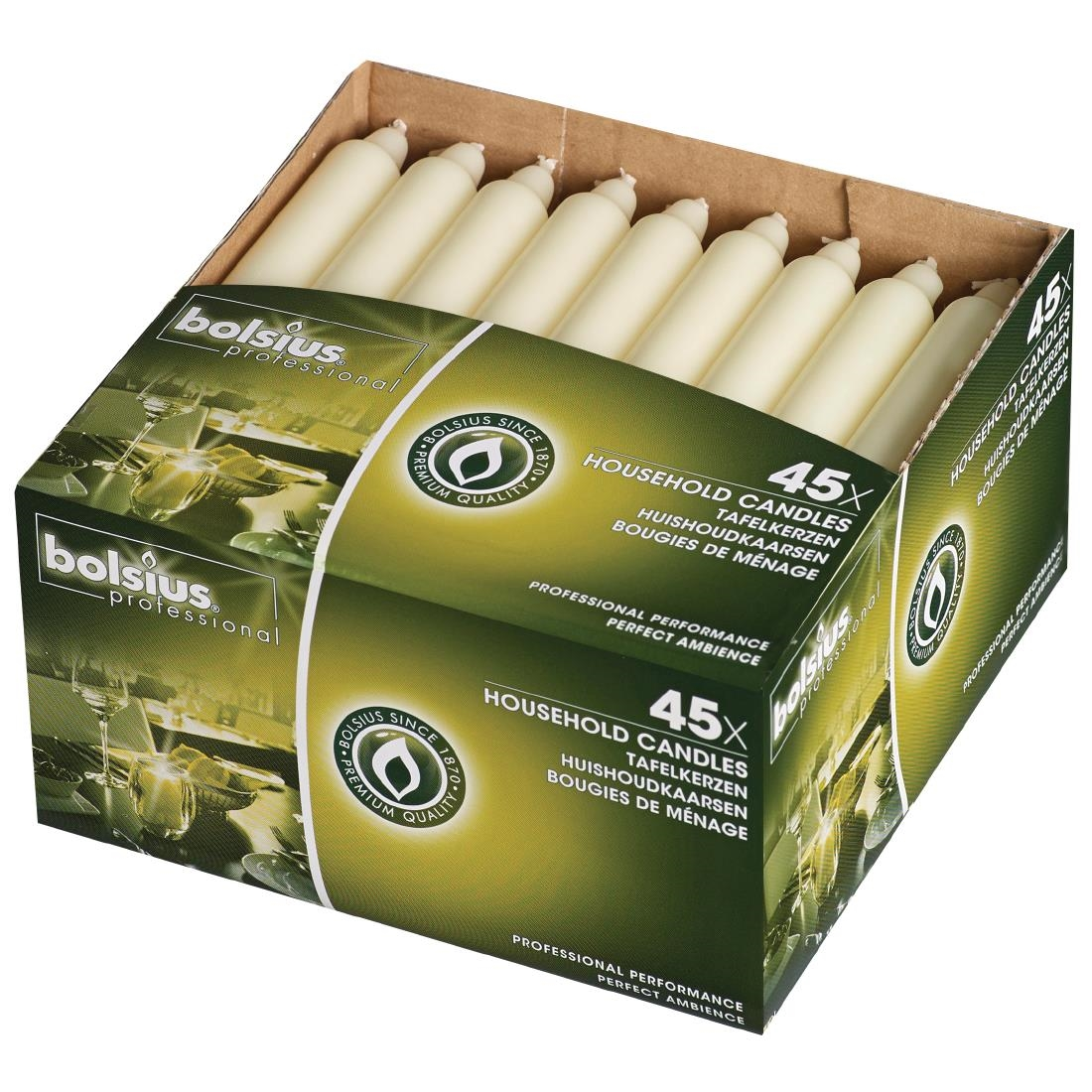 Image of Bolsius 7 Bistro Candles Ivory (Pack of 45) Pack of 45