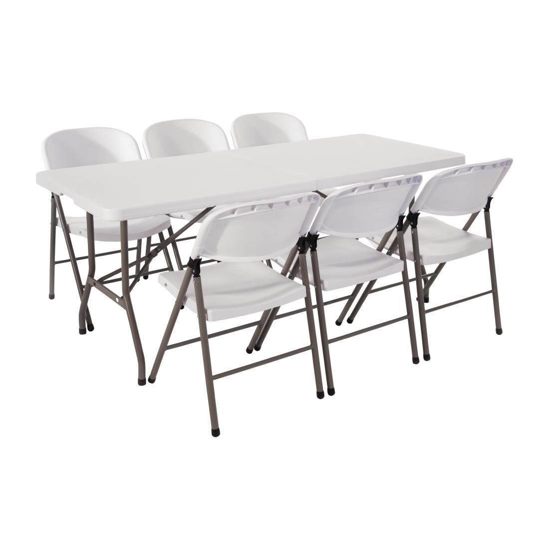 - Special Offer Bolero PE Centre Folding Table 6ft With Six Folding