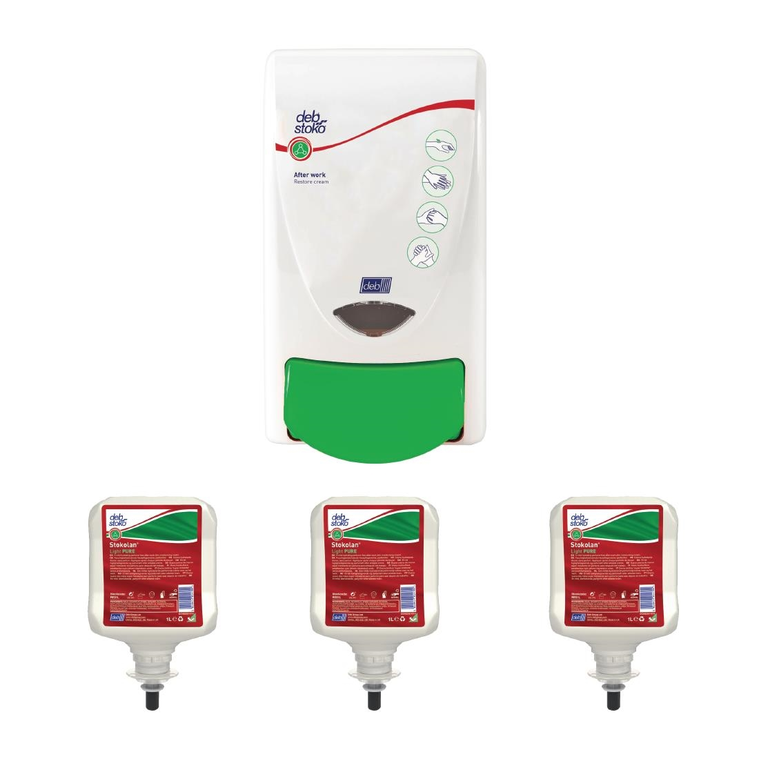 Special Offer Deb Restore Hand Cream Dispenser and 3 Refill Cartridges