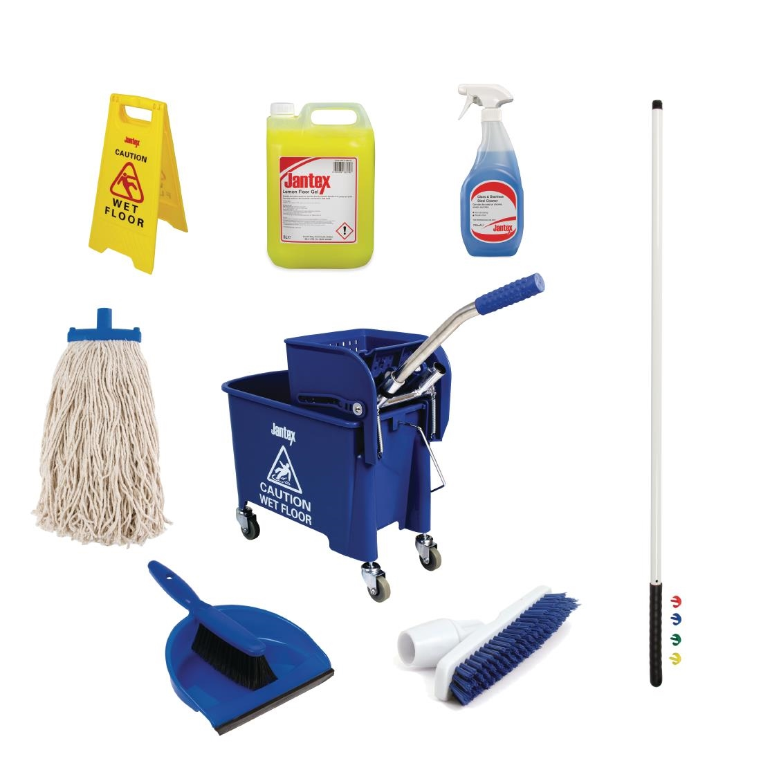 Jantex Colour Coded Cleaning Kit Blue
