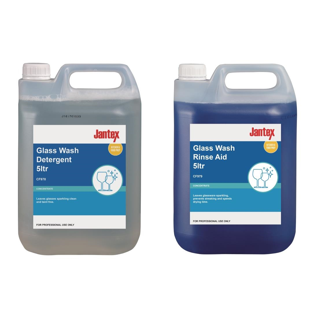 Image of Jantex Glasswasher Detergent and Rinse Aid Concentrate 5Ltr (2 Pack) Pack of 2