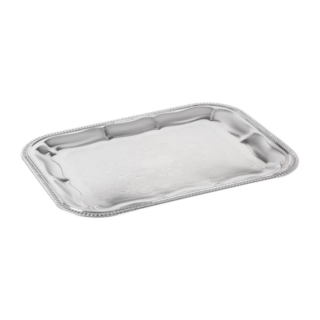 Image of APS Semi-Disposable Party Tray 410 x 310mm Chrome