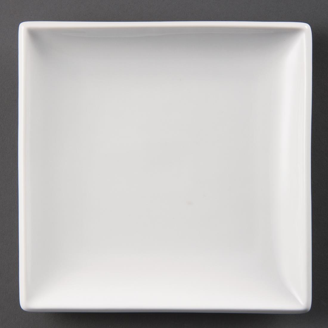 Olympia-Porcelain-Square-Plates-180mm-Pack-of-12- & Olympia Porcelain Square Plates 180mm - Pack of 12 | Food Serving ...
