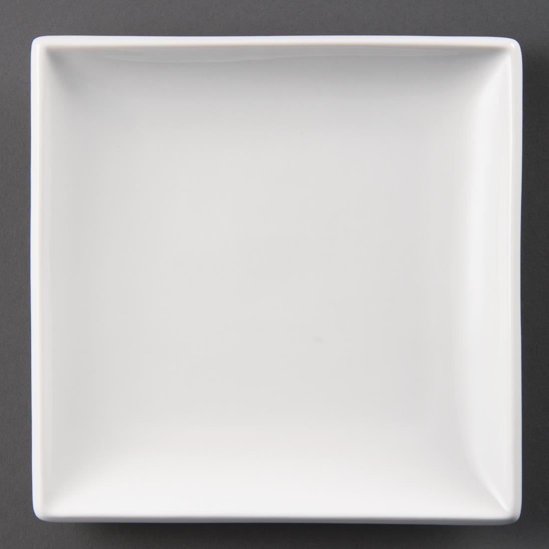 Olympia Whiteware Square Plates 240mm