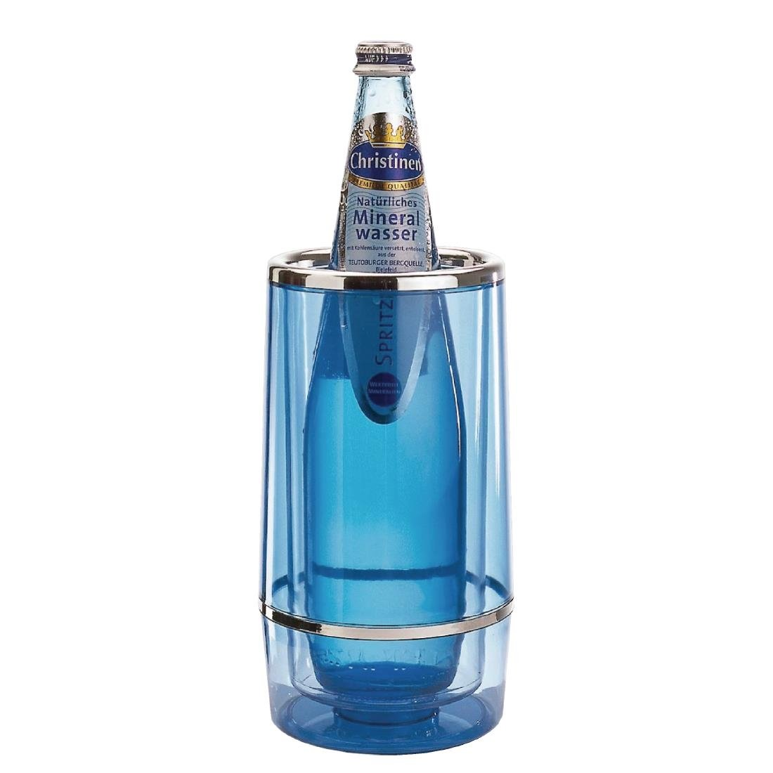 Image of Aps Blue Acrylic Wine And Champagne Cooler