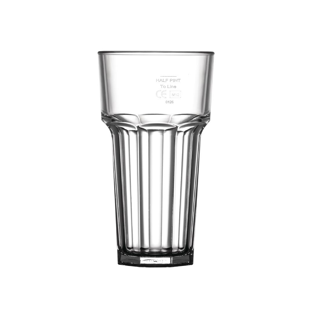 Image of BBP Polycarbonate American Hi Ball Glasses Lined Half Pint CE Marked at 285ml Pack of 36