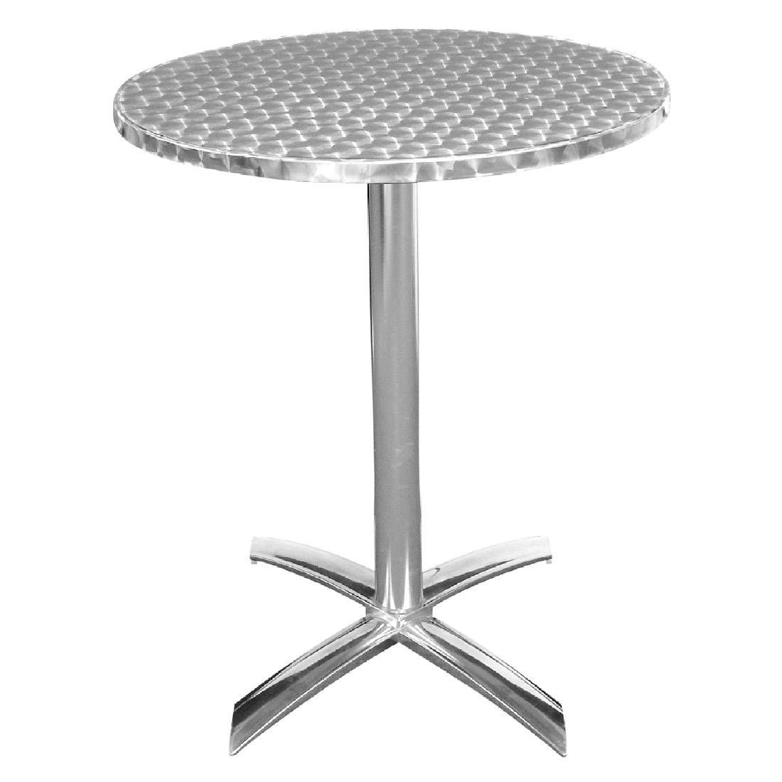 Bolero Flip Top Table Stainless Steel 600mm Outdoor Furniture Cafe Bar