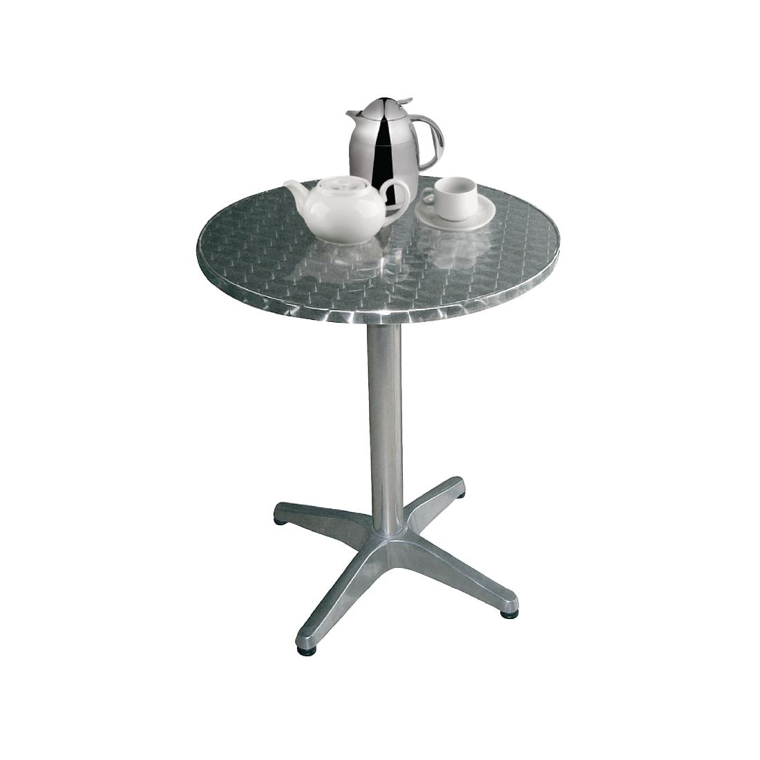 Image of Bolero Round Bistro Table Stainless Steel 800mm