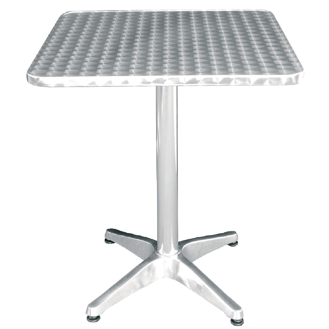 Exceptional Bolero Square Bistro Table Stainless Steel 600mm   U427   Buy .