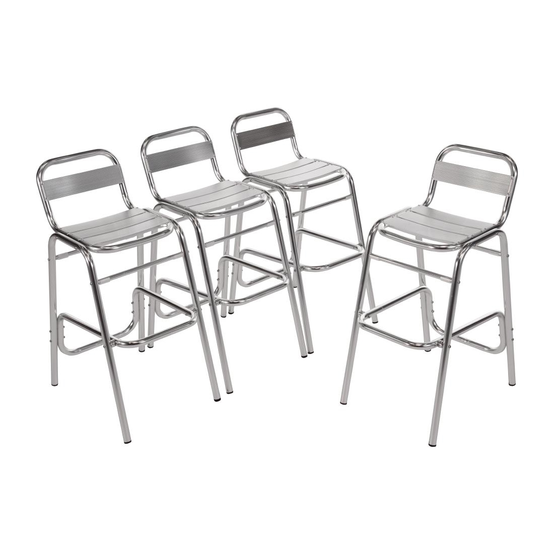 Marvelous Bolero Aluminium Bar Stools Pack Of 4 Squirreltailoven Fun Painted Chair Ideas Images Squirreltailovenorg