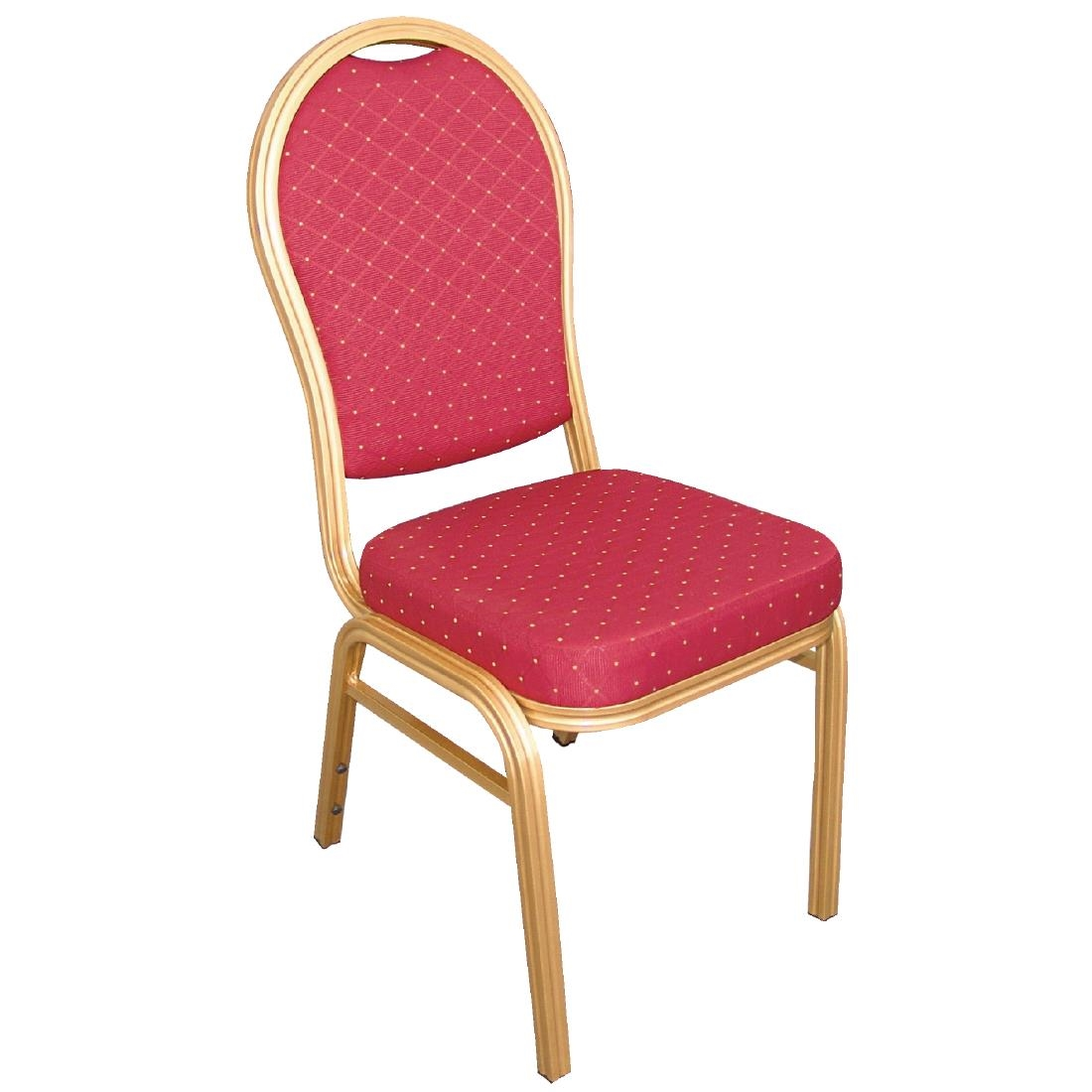 bolero aluminium arched back banquet chairs red (pack of 4) - u525