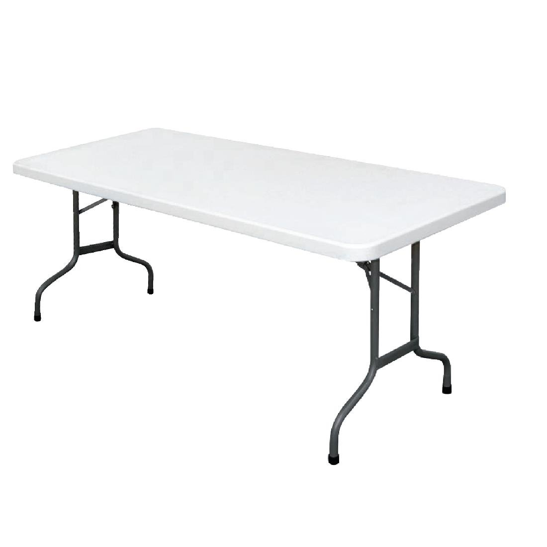 Bolero Foldaway Rectangular Utility Table 6ft U579 Buy line