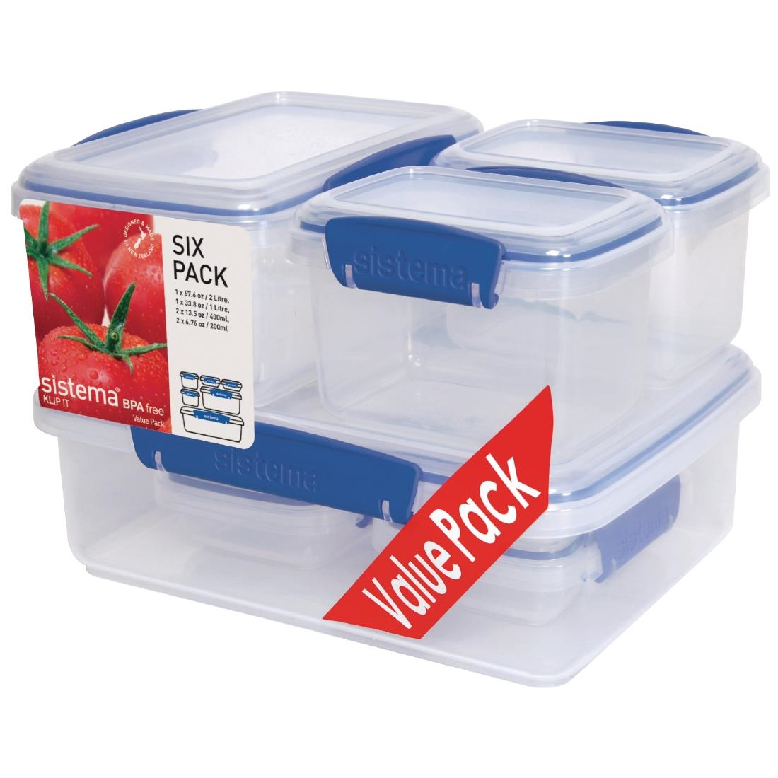 Sistema Klip It Storage Container Multipack