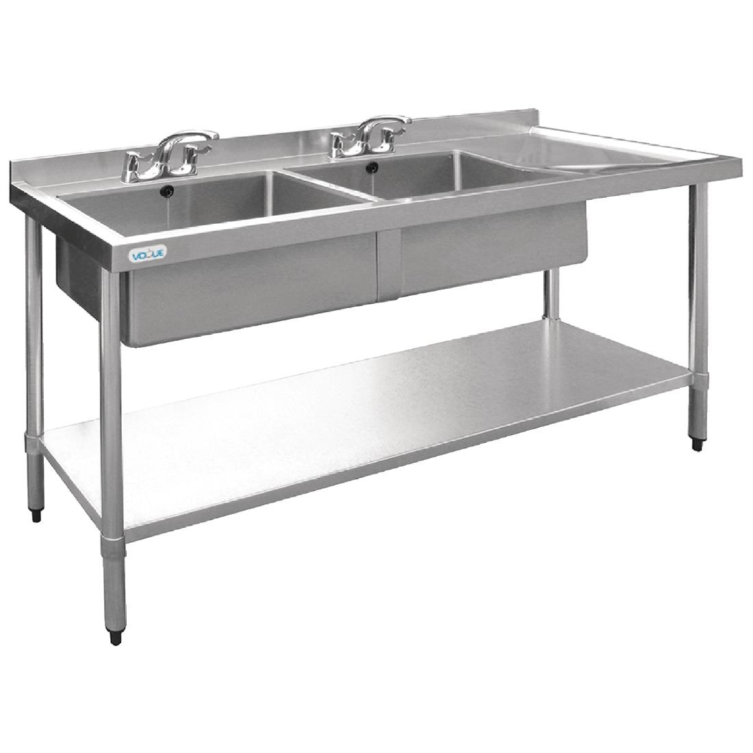 Charming ... Vogue Stainless Steel Sink Double Bowl With Right