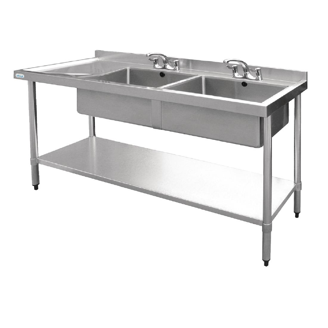 ... Vogue Stainless Steel Sink Double Bowl With Left
