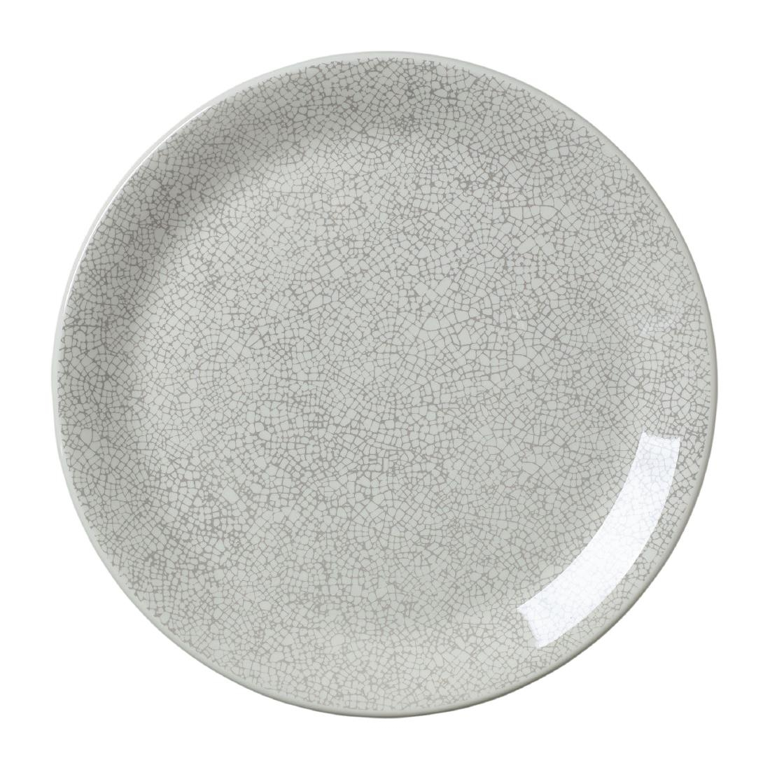 Steelite Ink Crackle Grey Coupe Plates 253mm (Pack of 12)