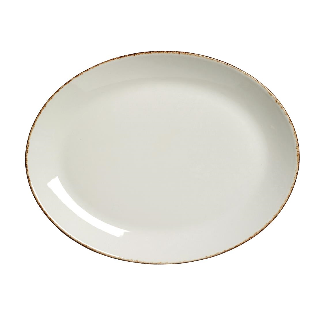 Steelite Brown Dapple Oval Coupe Plates 305mm Pack of 12