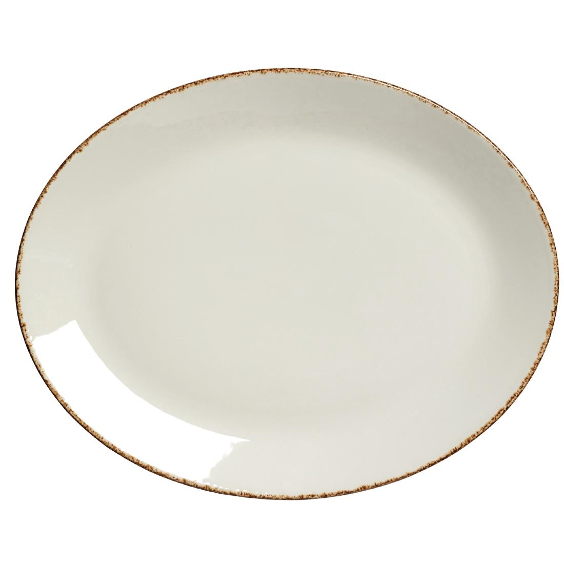 Steelite Brown Dapple Oval Coupe Plates 342mm Pack of 12