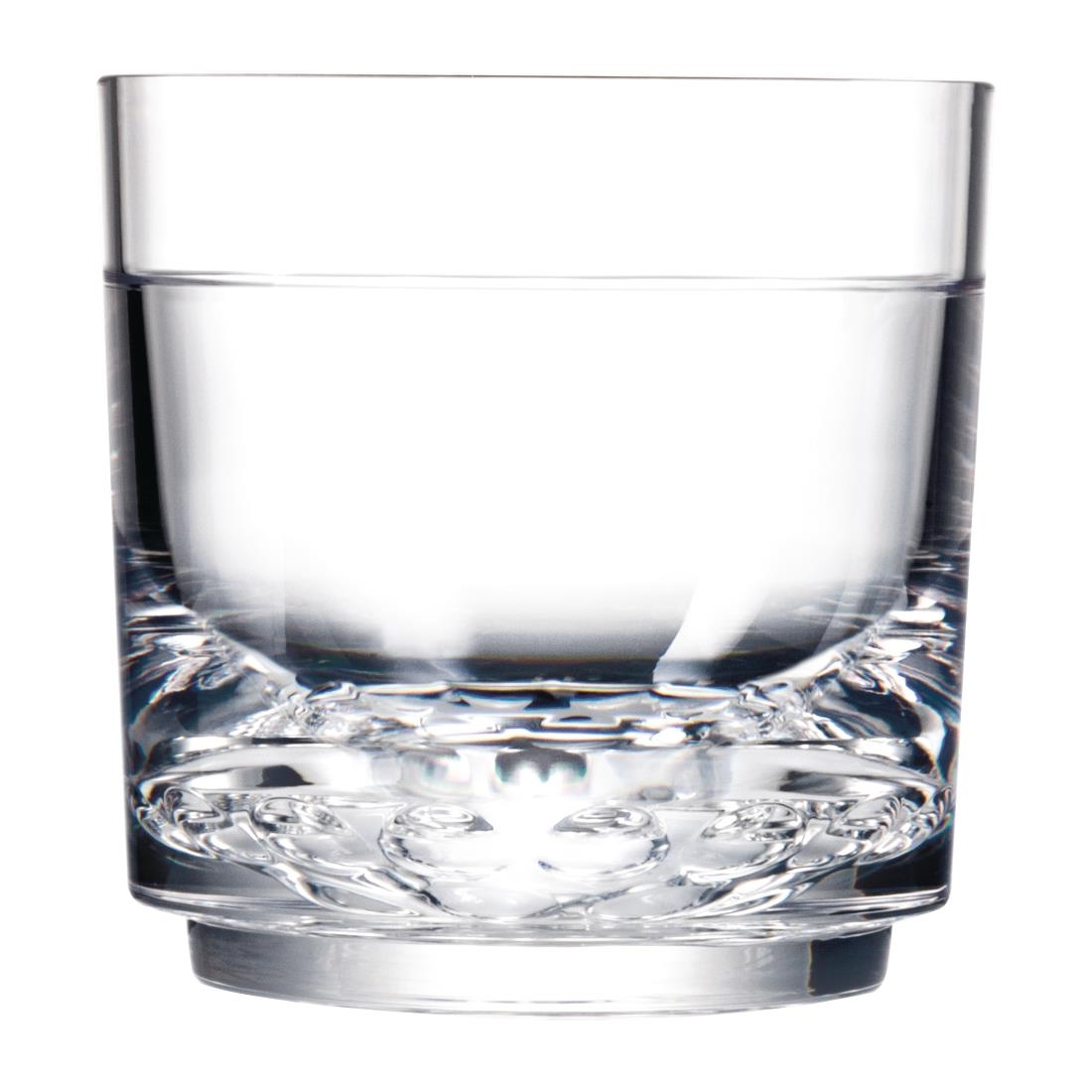 Image of Drinique Elite Tritan Rocks Tumblers Clear 285ml (Pack of 24) Pack of 24