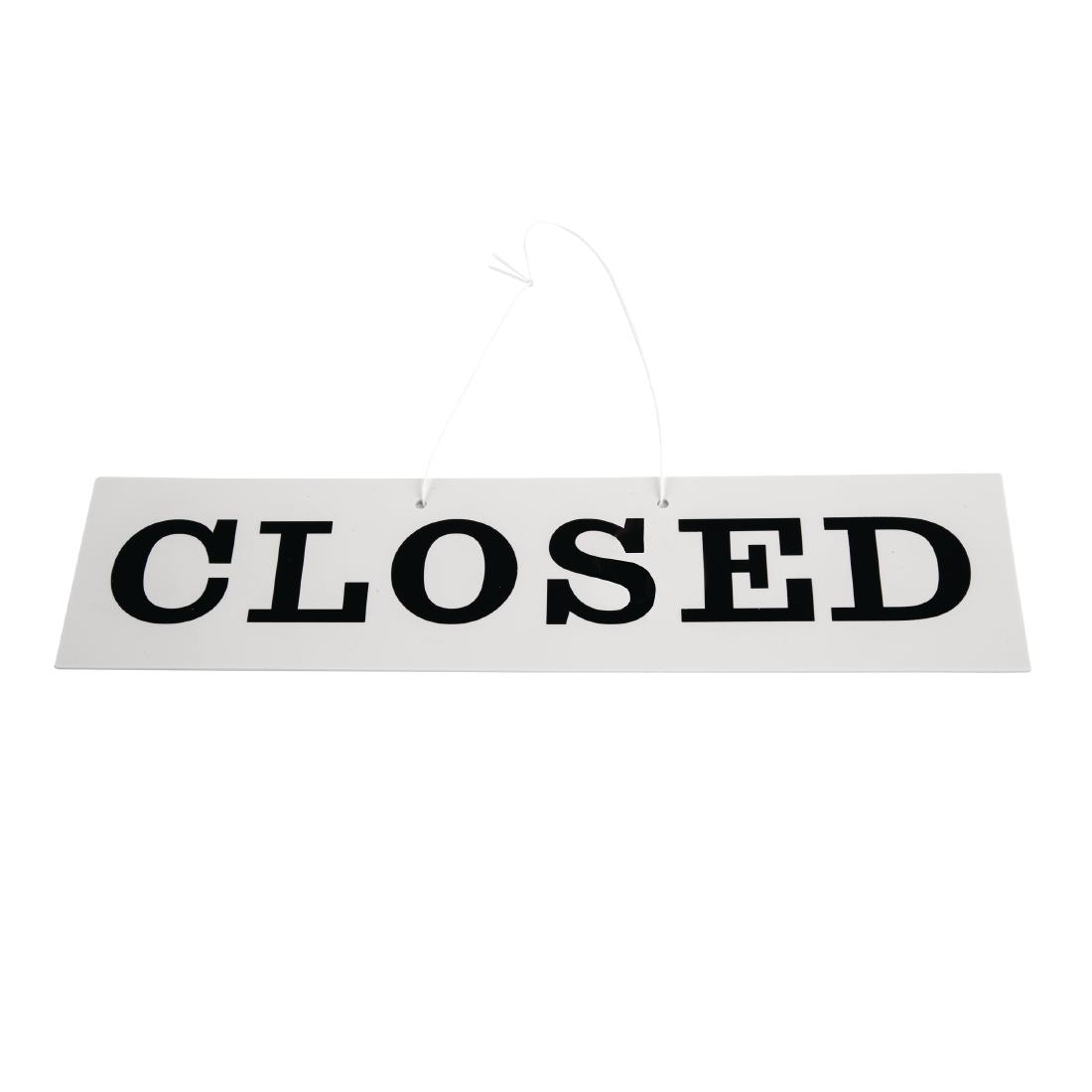 Closed Double Sided Sign for Indoor Or Outdoor use. Open