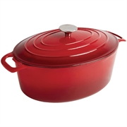 Attrayant Vogue Red Oval Casserole Dish 5ltr