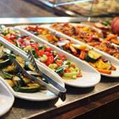 Hot And Cold Buffet Service Events Catering Crockery Risers And