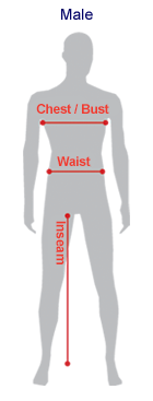 Male Clothing Size Guide